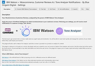Wordpress Plugin - Customer Reviews A.I. Tone Analyzer Notifications with IBM Watson + Woocommerce