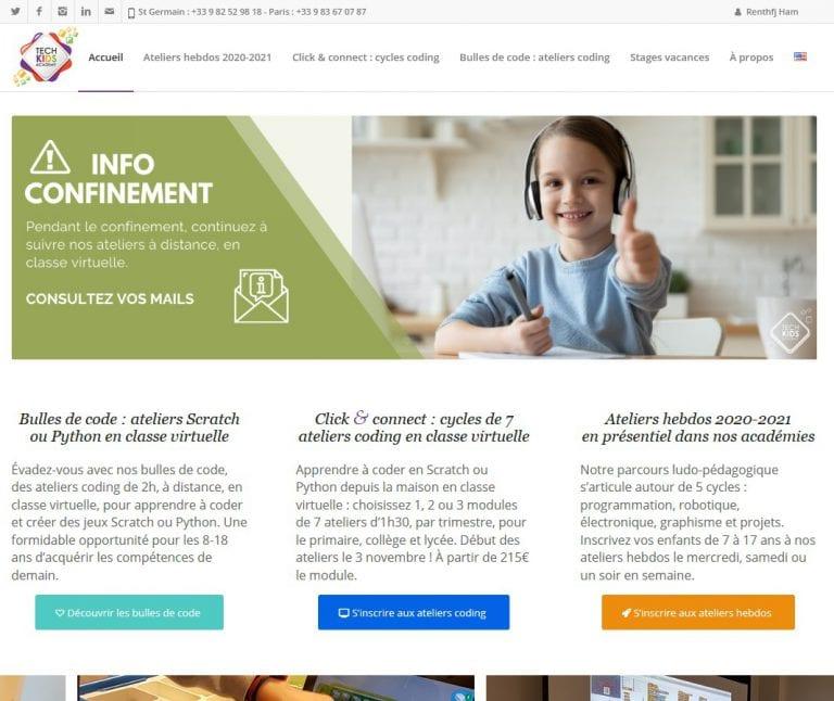 Tech Kids Academy, site de Centre d'activités techno pous les enfants