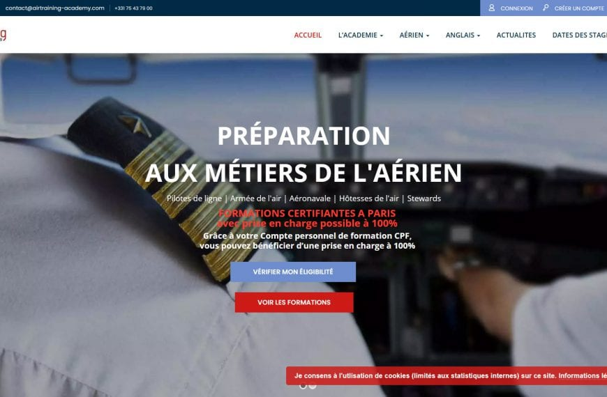 Nouvelle version du site Air Training Academy