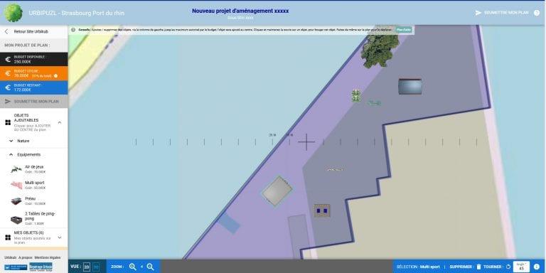 Urbipuzzl – configurateur participatif de espace public, en 2D 3D