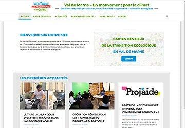 Mini site Val de Marne – En mouvement pour le climat
