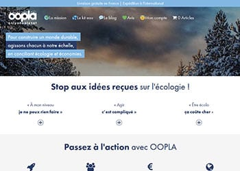 Oopla, site e-Commerce